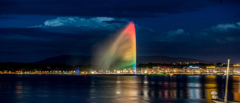 Jet d'eau rainbow